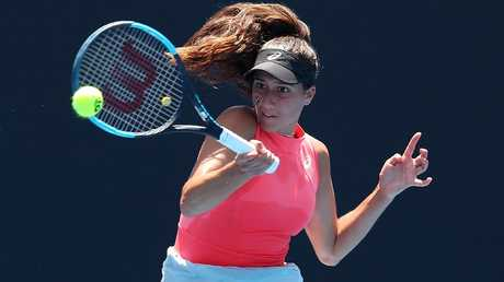 Jaimee Fourlis fell in the first round of Australian Open qualifying.