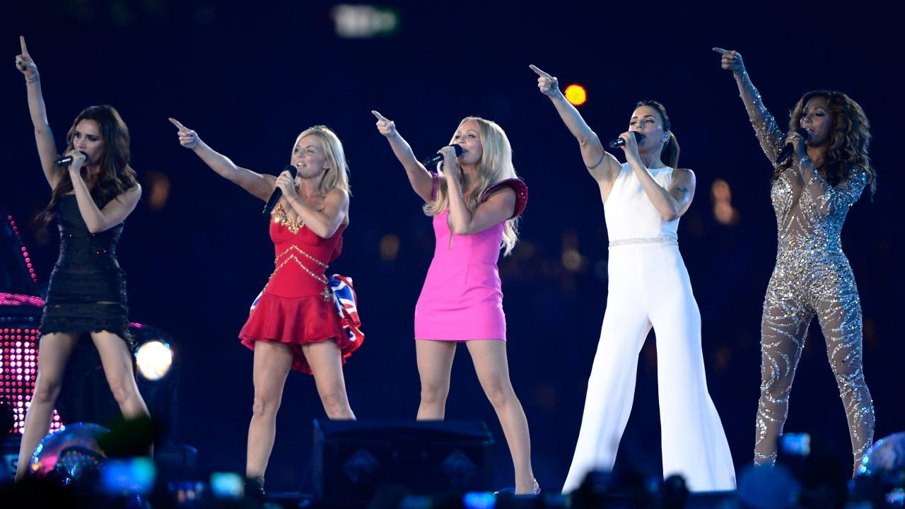 The Spice Girls performed during the Closing Ceremony of the London 2012 Olympic Games.