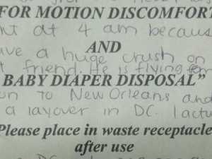 Love letter found on 'barf bag' on flight