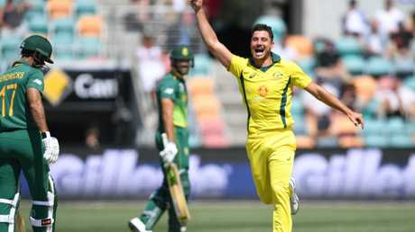 There's no player in Australian cricket right now receiving support in higher places than Marcus Stoinis. Picture: AAP
