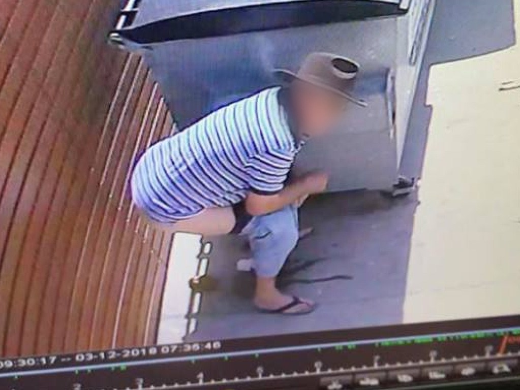 A man was caught taking a dump outside a Red Rooster last month.