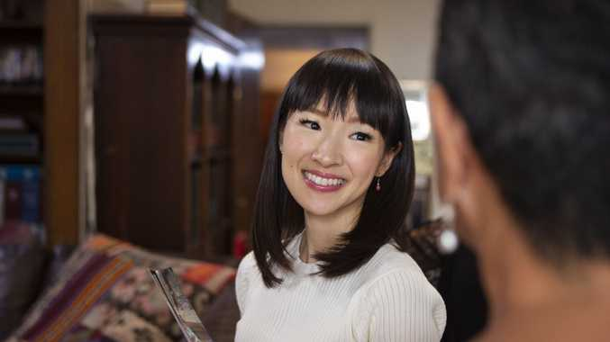 Marie Kondo in a scene from the TV series Tidying Up With Marie Kondo.