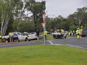 Paramedic injured in power pole fall 'in good spirits'