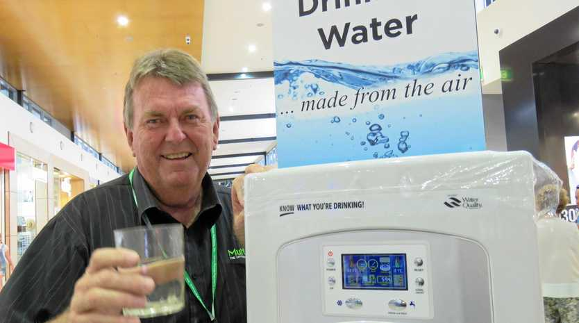 FRESH WATER: World Environmental Solutions CEO Wallie Ivison at Noosa Civic with one of his Atmospheric Water Generators.