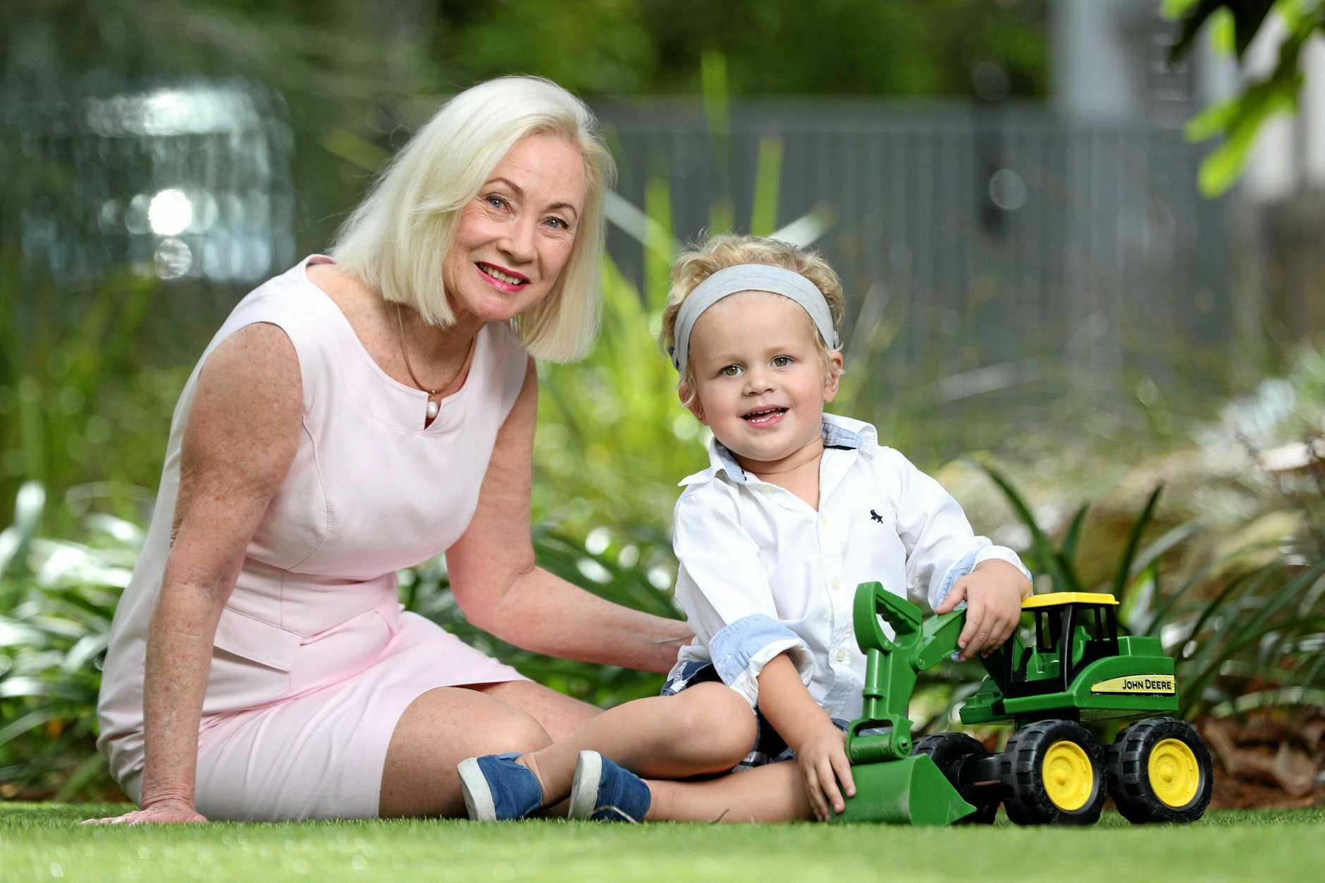 Dr Dimity Dornan of the Hear and Say Centre with Edward Mewing, 2.