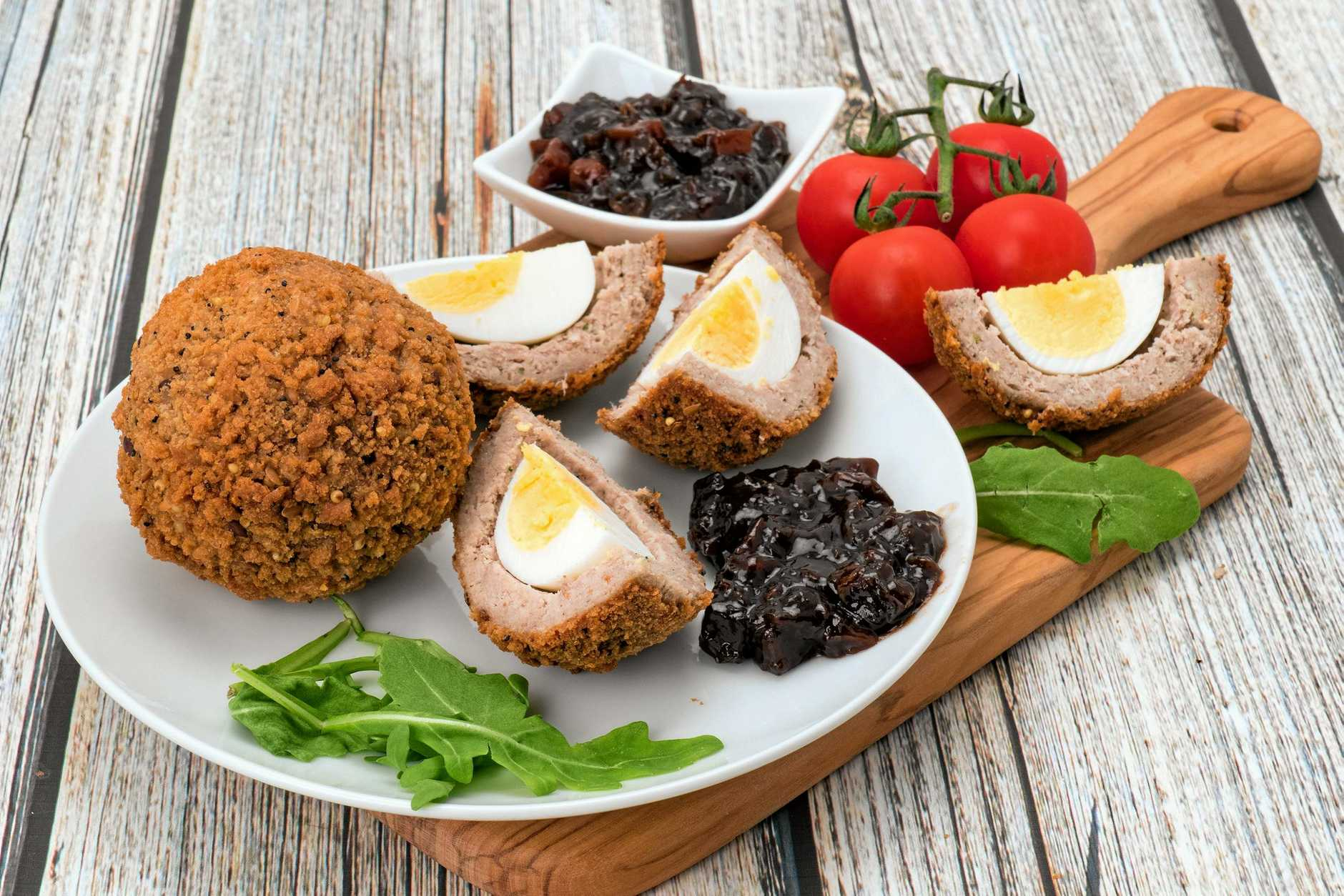 Pub grub: Scotch eggs.