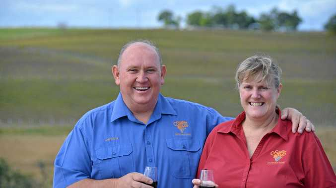 HOT COMMODITY: Winemakers Jason and Susan Kinsella have enjoyed a great summer.