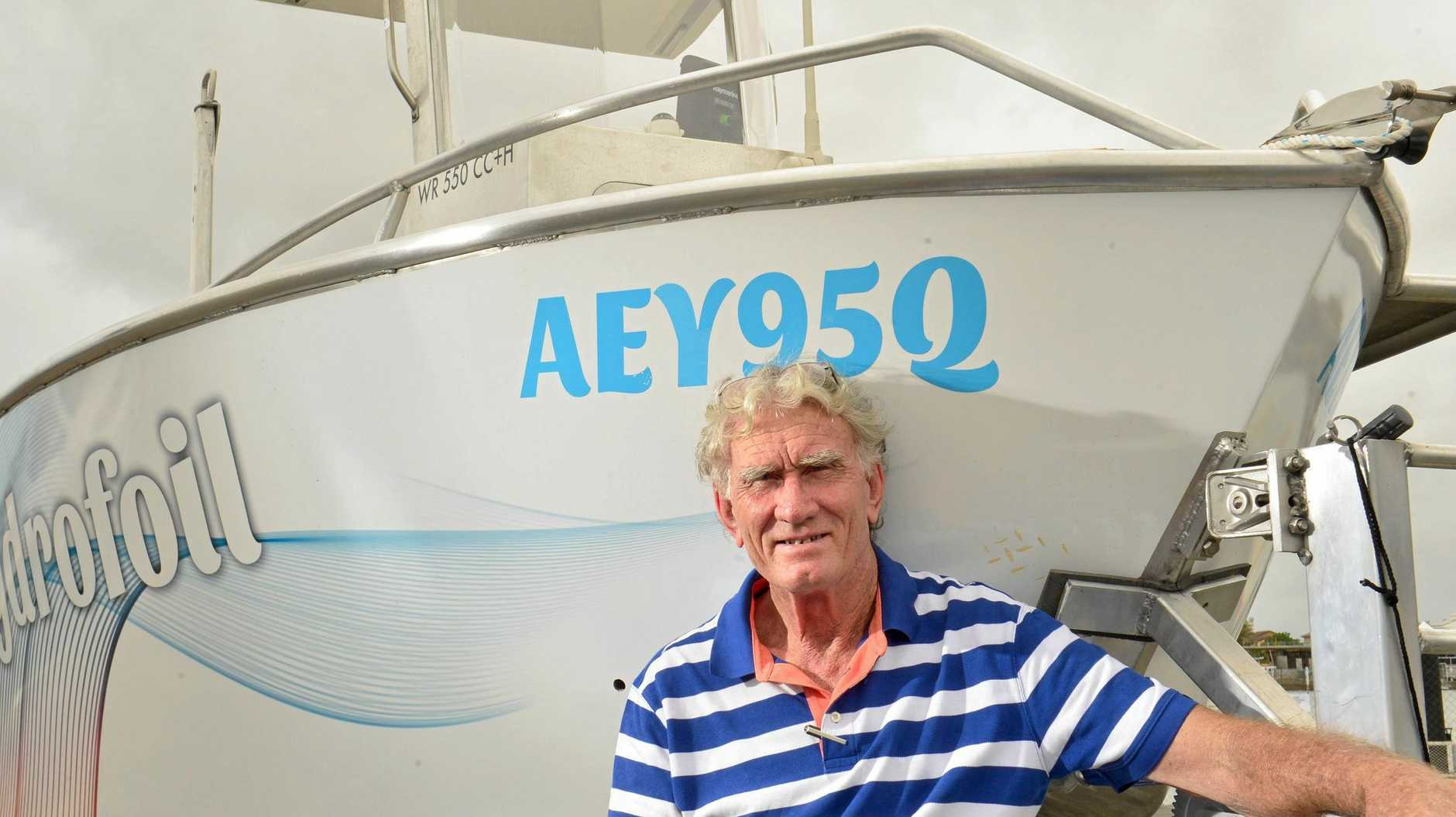 Boat builder Pat Jones has patented a hydrofoil design for trailable boats that improves ride and stability. He plans to promote the design by driving a 5.5 metre Centre Console from Mooloolaba to Sydney and anticipates he can do the 500nm trip in 20 hours.