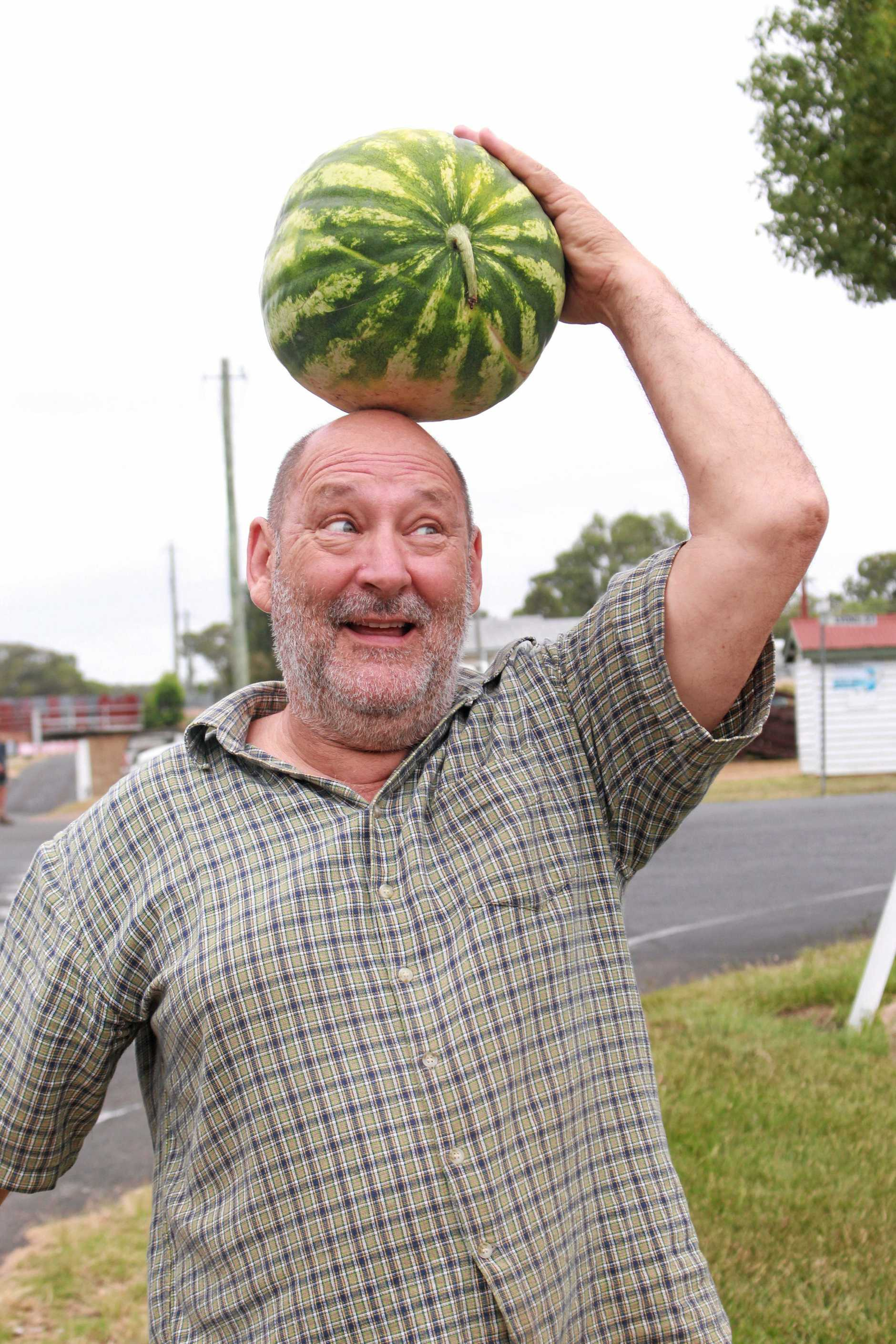 Allora hobby farmer Steve Harrop was looking forward to the first Pig and Calf sale of 2019. He wasn't disappointed when he walked away with a big watermelon, perfect for summer.