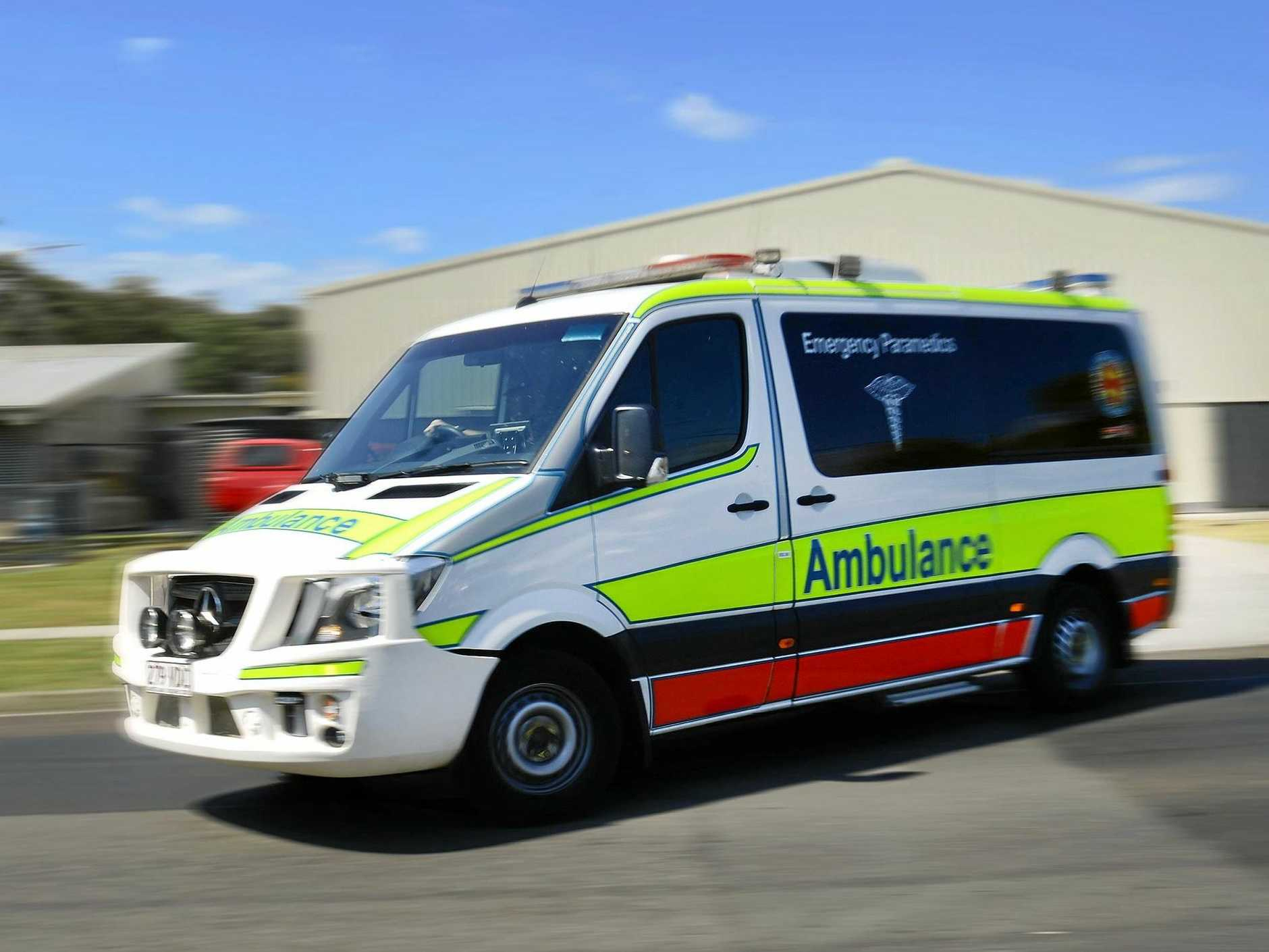 SOMERSET: Queensland Ambulance Service Paramedics transport three patients to hospital.