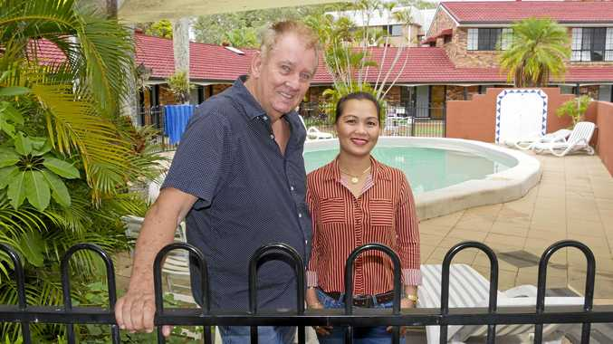 OPEN ARMS: Hervey Bay Colonial Lodge owners Andre and Ronaly Els have been awarded as an