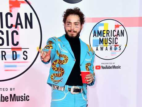Australians LOVE listening to Post Malone a lot! Picture: Frazer Harrison/Getty Images.