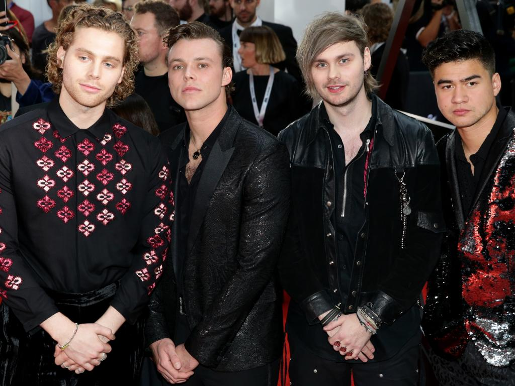 Five Seconds of Summer  had the biggest-selling song in Australia in 2018. Picture:  Jonathan Ng
