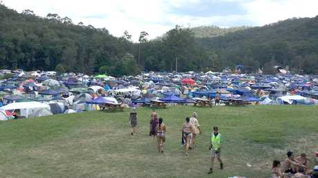 The Lost Paradise festival on the NSW Central Coast where one partygoer lost their life after a drug overdose. Picture: Henry Lynch