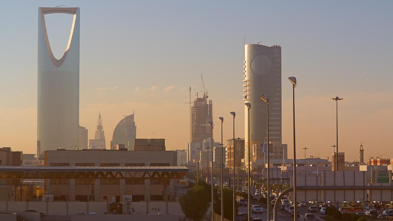 Riyadh downtown in Saudi Arabia on February 29, 2016.