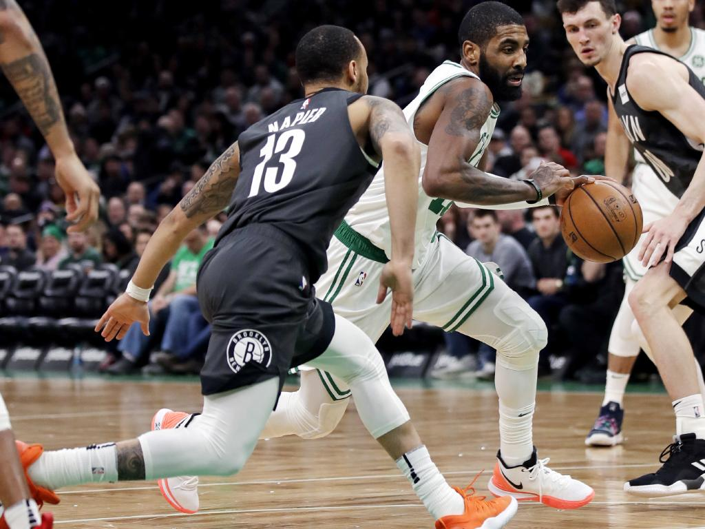 Kyrie Irving played in the special shoe on Tuesday. Picture: AP Photo