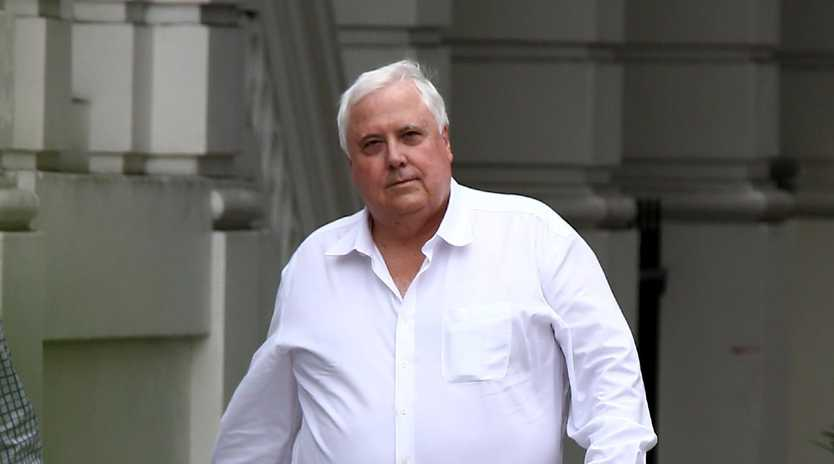 Clive Palmer pictured in Brisbane on Monday. Picture: AAP/David Clark