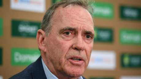 Australian selector Trevor Hohns on Wednesday. Picture: AAP