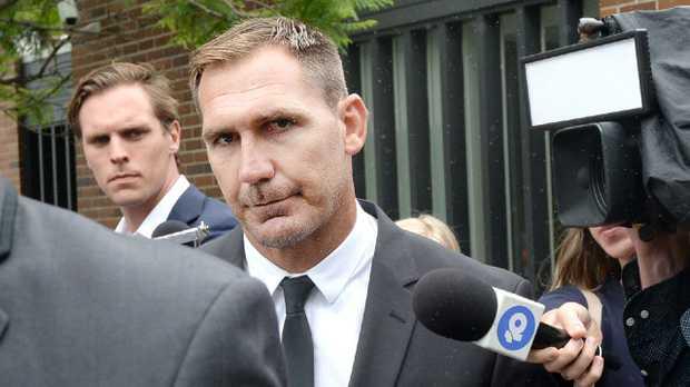 NRL player Scott Bolton leaves Waverley Court in Sydney. (AAPImage/Jeremy Piper)