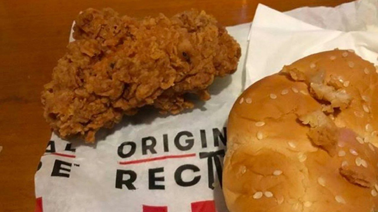 KFC has apologised for the stomach-churning find. Picture: Yahoo 7 News