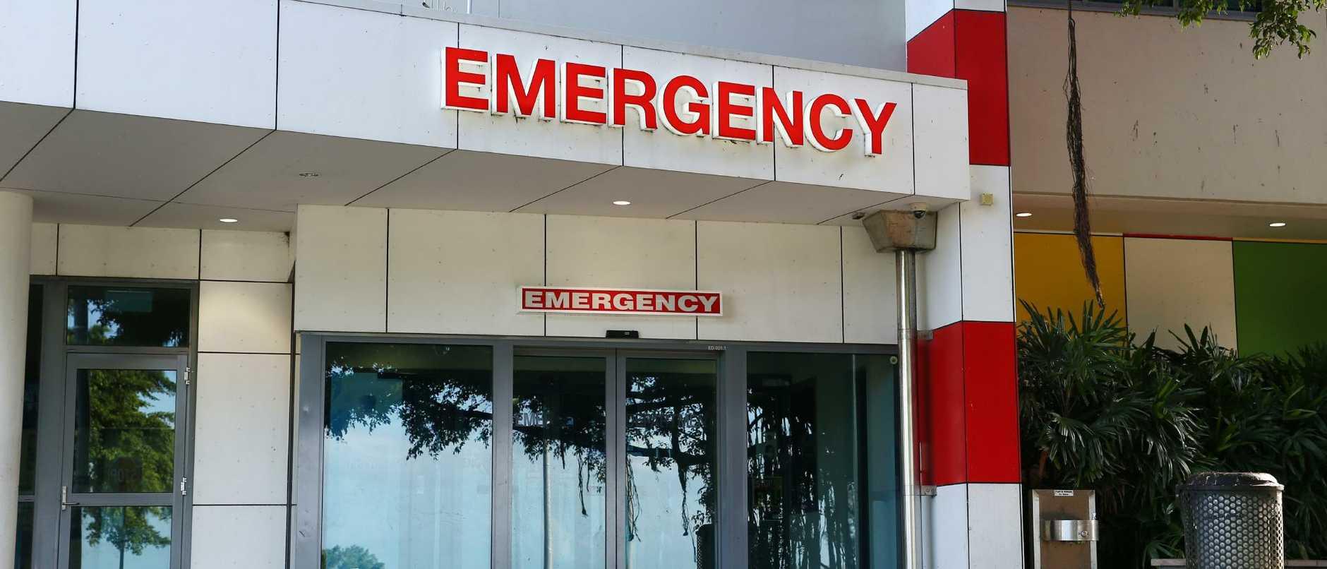 Cairns hospital's Emergency Department entry. PICTURE: BRENDAN RADKE