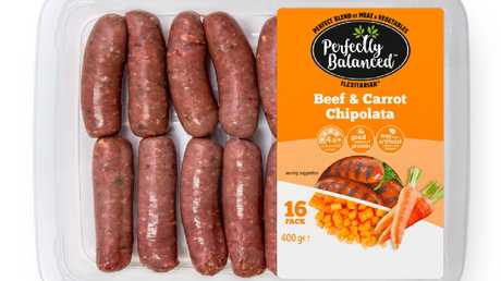 Beef and carrots snags. Perfect for the part time vegan.