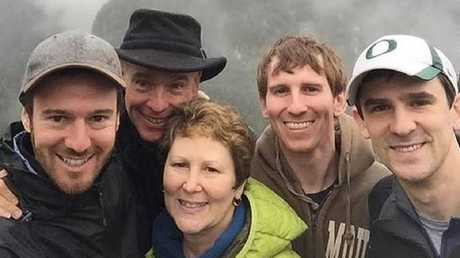 American father Neil was travelling to New Zealand for a holiday with his family - wife Mindy and their three sons Benjamin, Jeremy and Matthew. Picture: Supplied