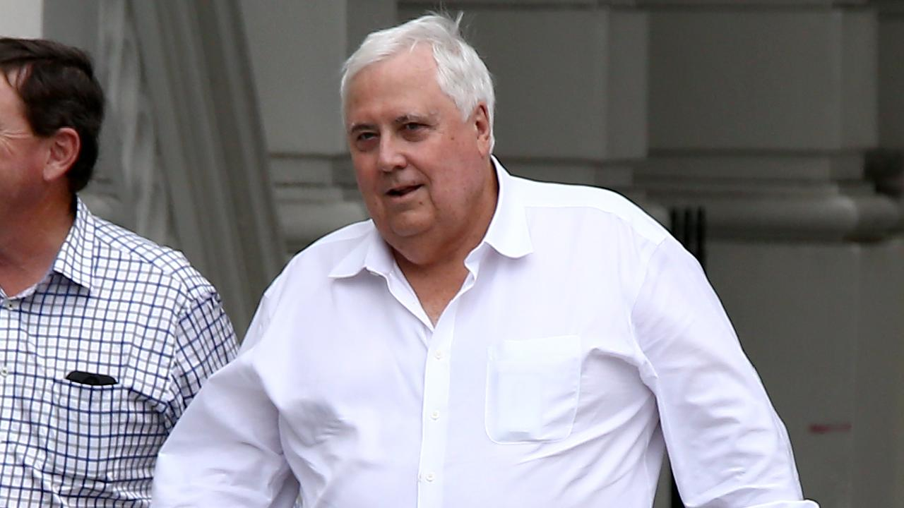 Clive Palmer appears to have copied the LNP constitution for his relaunched party. Picture: AAP/David Clark