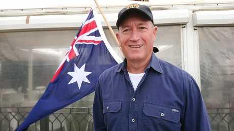 Senator Fraser Anning at St Kilda beach in Melbourne last week. Picture: AAP