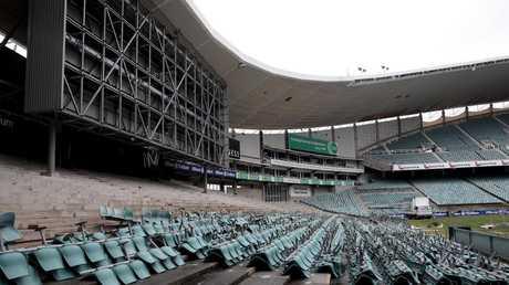 Demolition under way on the old Sydney Football Stadium (Allianz Stadium). Picture: Supplied
