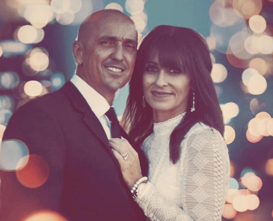 Vesna and Warren Bornman on their wedding day.