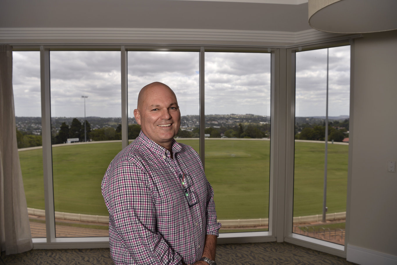 Infinite Care Toowoomba facility manager Tony McKenzie with the view the aged care facility has of Toowoomba, Thursday, January 10, 2019.