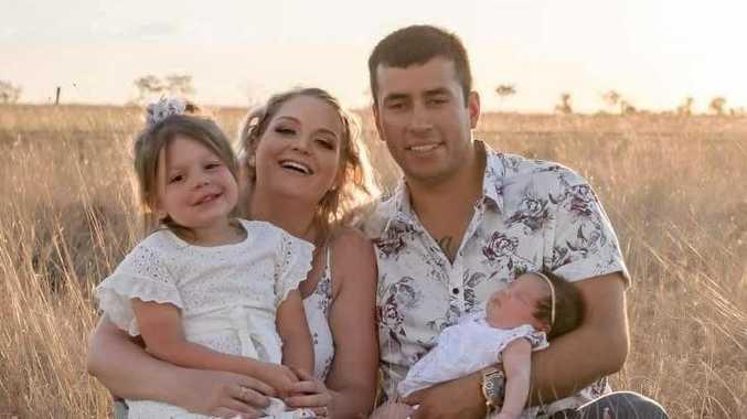 FAMILY: Elina , Kyrian Sliwka, and Nick Copete with Sophia.
