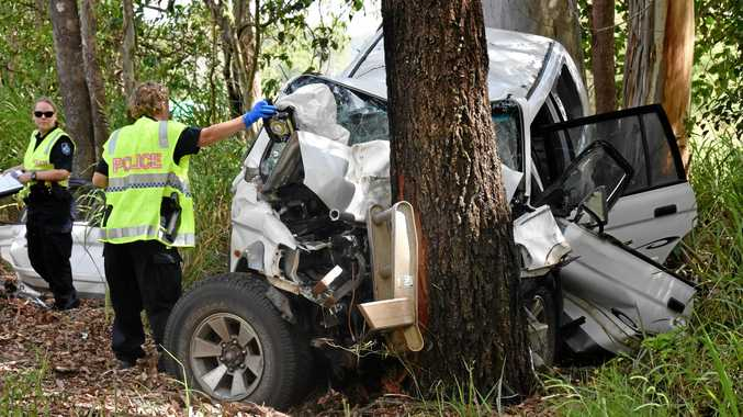 TRAGEDY: A 59-year-old man has been killed in a single vehicle crash. Forensic Investigators are at the scene.