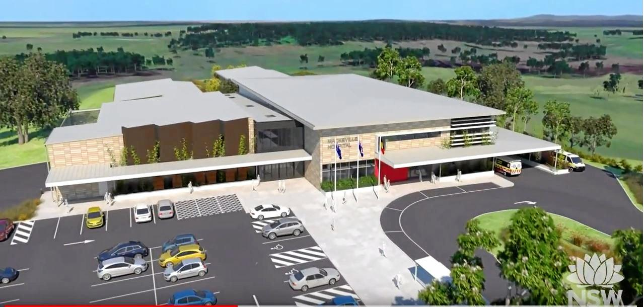 An artist impression of how the Macksville Hospital will look once built.