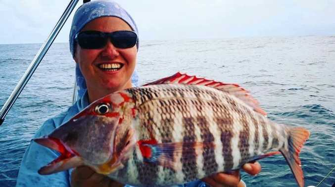 CATCH OF THE WEEK: Natalie Rodgers caught this red throat emperor at Coolum.