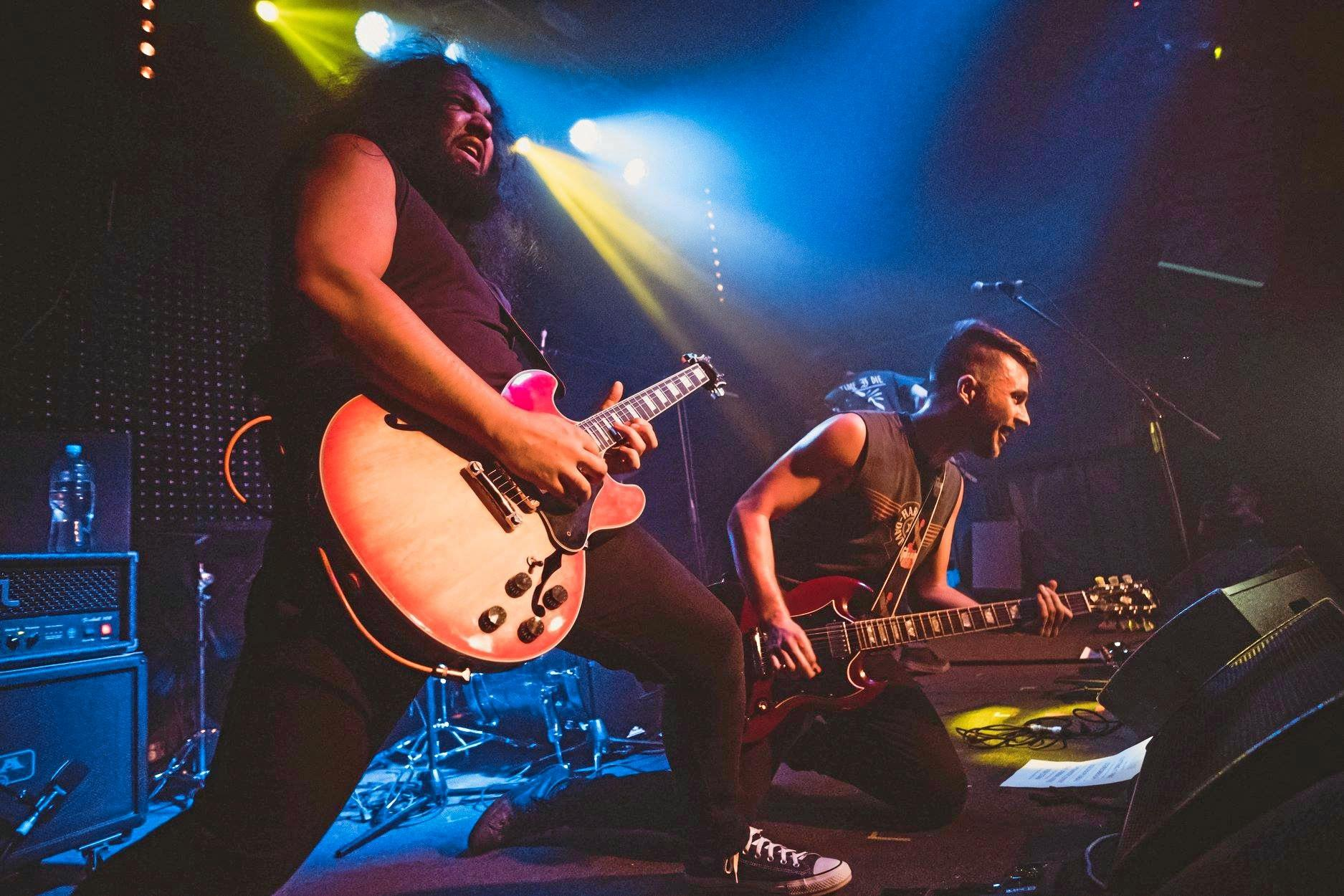 MUSIC IS MEDICINE: Heavy rock performers Eric Moors and Zach Eather are keen to take the Warwick Town Hall by storm when they play as 'Therapist' next Saturday.