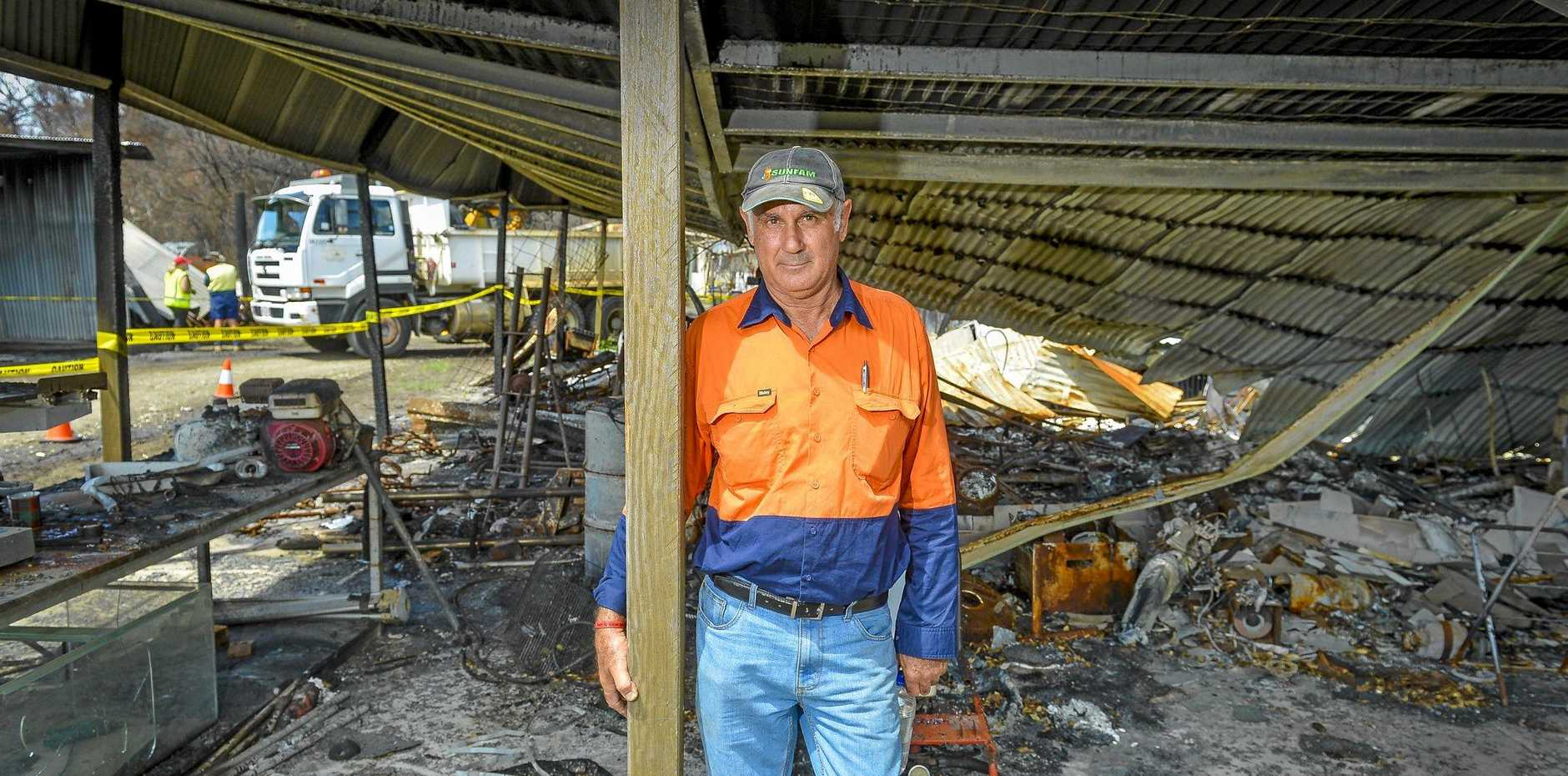 GRATEFUL FOR HELP: George Spiteri was hit hard during the Deepwater bushfires.