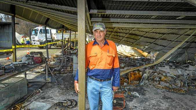 GRATEFUL FOR HELP: George Spiteri was hit hard during the Deepwater bushfires.