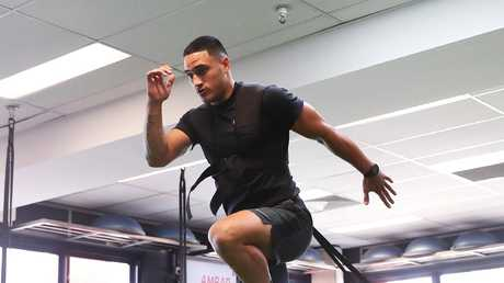 Valentine Holmes has been working with trainer Trent Elkin. Picture: Brett Costello