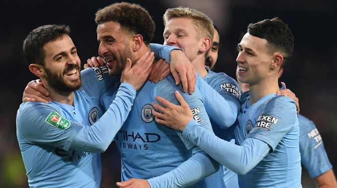 Defender Kyle Walker got on the scoresheet for Manchester City.