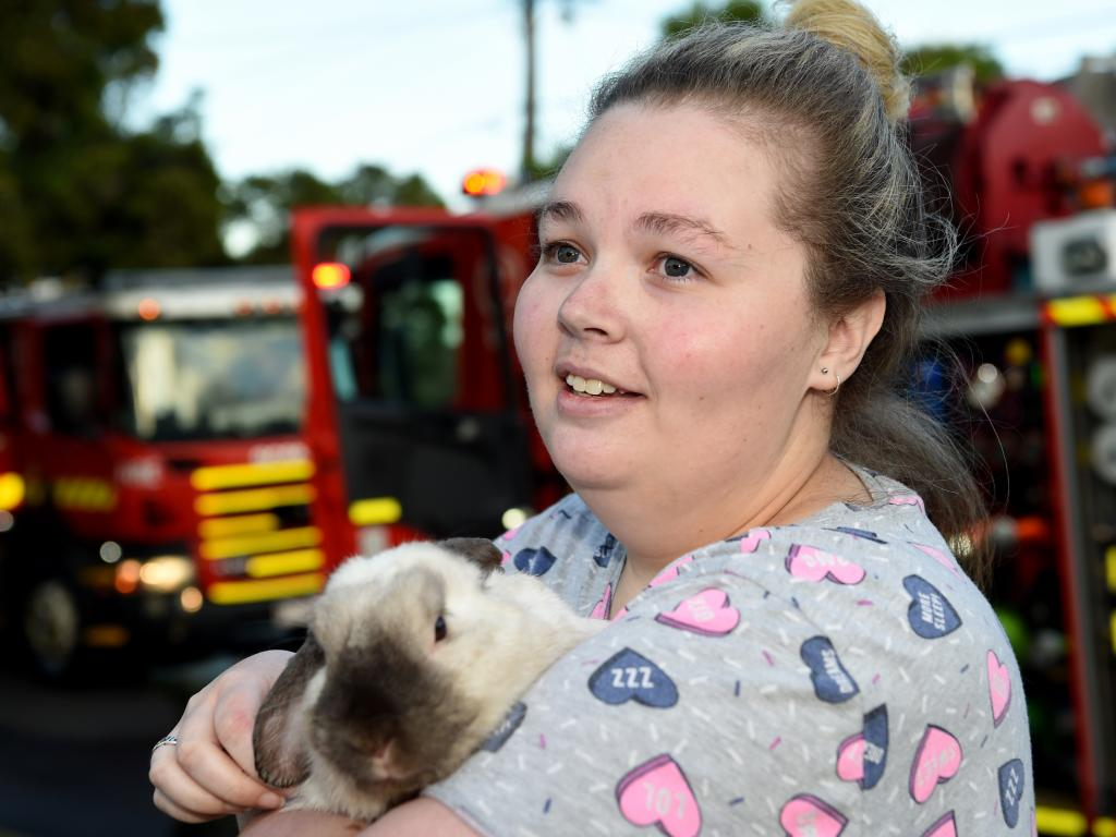 Carlia McIntosh with her rabbit Norman. Picture: Nicole Garmston