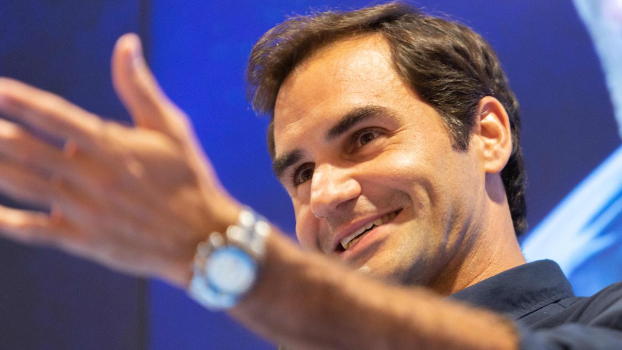 Roger Federer greeted fans in Melbourne on Wednesday. Picture: Asanka Brendon Ratnayake/AFP