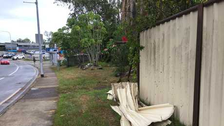 Police said the pair collided with a pole, before crashing into a fence nearly 30m away. Picture: Tali Eley