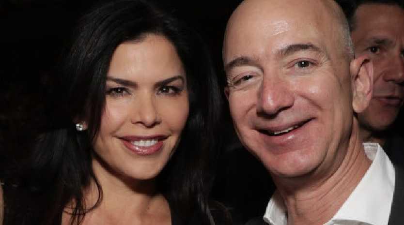 Patrick Whitesell, Lauren Sanchez and Jeff Bezos