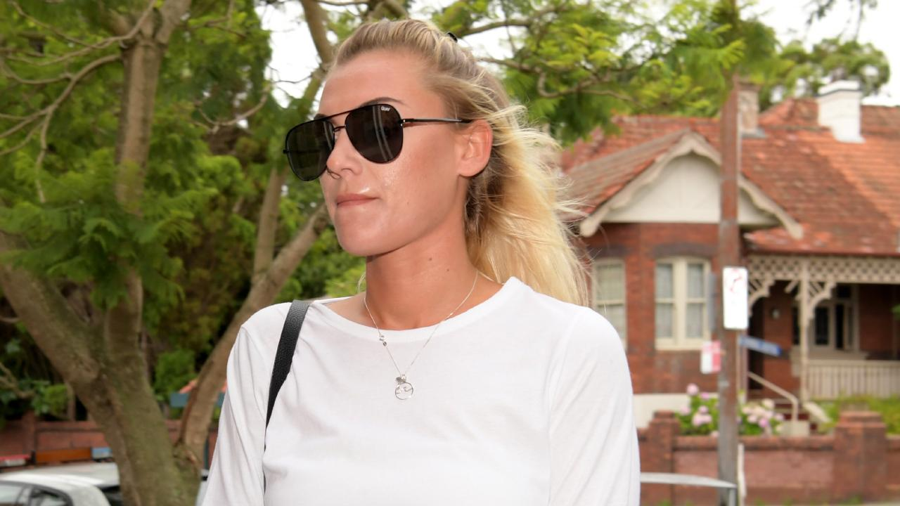 Malin Hylland arrives at Waverly Court. Tracey Nearmy/Daily Telegraph