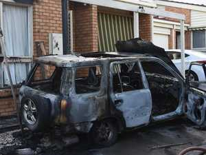 Mystery car sets Melbourne unit on fire