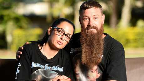 Kerri-Ann Goodwin and Shane Burke pictured at the community summit held in Townsville to review sentencing of child homicide offences.