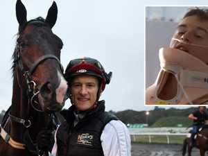 'Unreal!' Jockey back in saddle after neck break