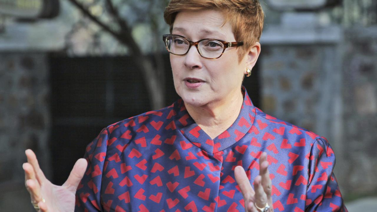 Foreign Minister Marise Payne has said Australia is willing to consider the application of Ms Alqunun. Picture: Shonal Ganguly/AP
